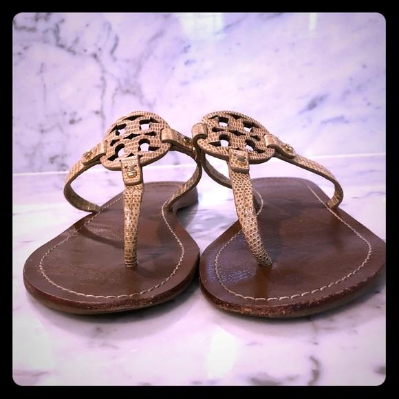 391b33f3d228 Size 9 Tory Burch mini Miller leather sandal. M 5b3d1f0be944bab8df443930